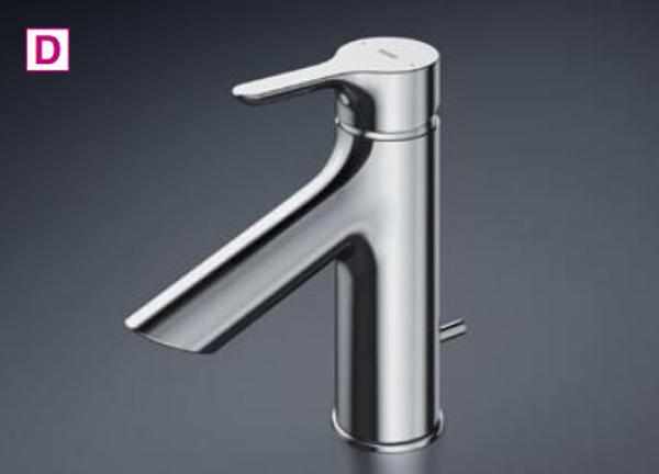【最安値挑戦中!最大23倍】TOTO 洗面所用水栓 TLS01302J 台付シングル混合水栓 逆止弁 ワンプッシュ式 [■]