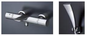 【最安値挑戦中!最大23倍】TOTO TBV01S10J 壁付サーモスタット混合水栓(エアインめっき) [■]