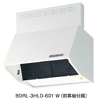 【最安値挑戦中!最大24倍】レンジフード 富士工業 BDRL-3HL-601 SI 間口600mm BLIII型相当風量 (前幕板付属) シルバーメタリック [♪■§]