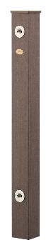 【最安値挑戦中!最大25倍】カクダイ 【624-161】 水栓柱(樹脂木) [♪■]