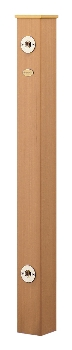 【最安値挑戦中!最大25倍】カクダイ 【624-162】 水栓柱(樹脂木) [♪■]