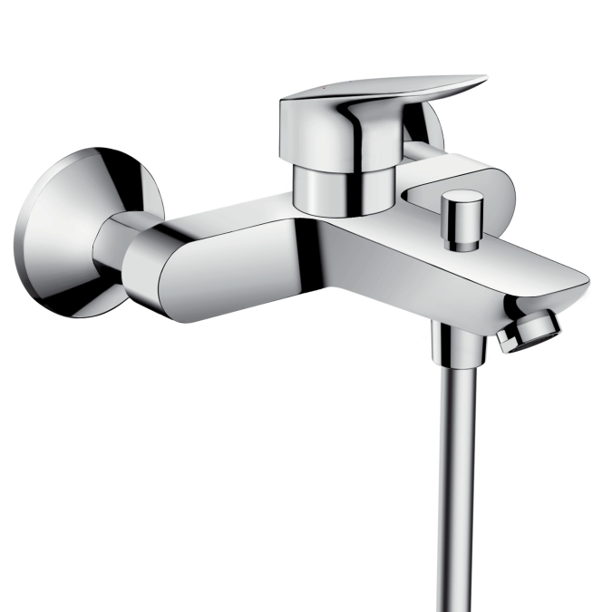 【最安値挑戦中!最大25倍】ハンスグローエ 71400000 ロギス 壁付式シングルレバーバス・シャワー混合水栓 [■]