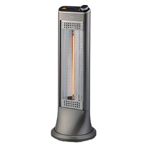 【まいどDIY】ユーイング 電気ストーブ US-CR900L(H) 速暖カーボンヒーター 遠赤外線 グースグレー [▲]