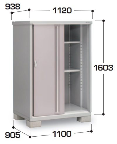 【最安値挑戦中!最大23倍】イナバ物置 シンプリー MJX-119D 収納庫 全面棚タイプ [♪▲]