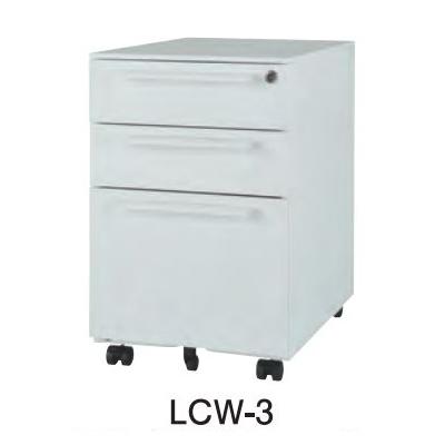 井上金庫 LCW-3 3段ワゴン W390× D540 × H600 [【店販】♪▲]