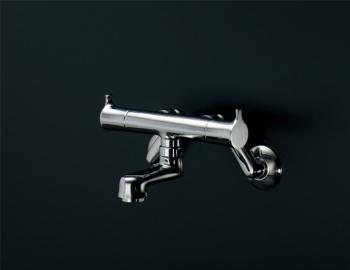 【最安値挑戦中!最大23倍】水栓金具 カクダイ 128-015 2ハンドル混合栓 [♪■]