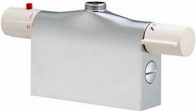 【最安値挑戦中!最大24倍】水栓金具 カクダイ 175-400K サーモスタットシャワー混合栓本体(デッキタイプ) 寒冷地用 [□]