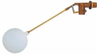【最安値挑戦中!最大34倍】水栓金具 カクダイ 6616-50 複式ボールタップ(ポリ玉) [□]