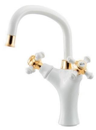 【最安値挑戦中!最大34倍】水栓金具 カクダイ 150-452 2ハンドル混合栓(洗面) 1ホール [♪■]