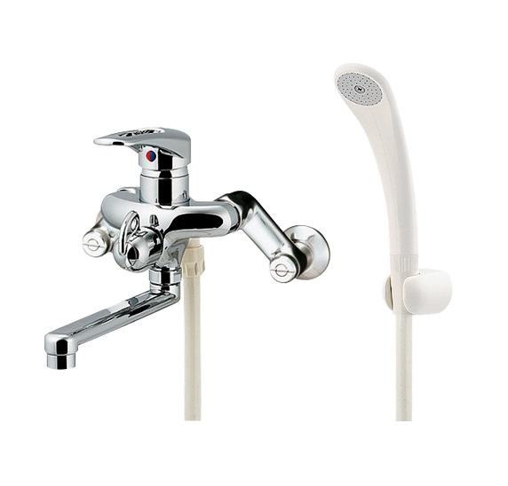 【最大44倍スーパーセール】水栓金具 カクダイ 143-021 シングルレバーシャワー混合栓 [□]