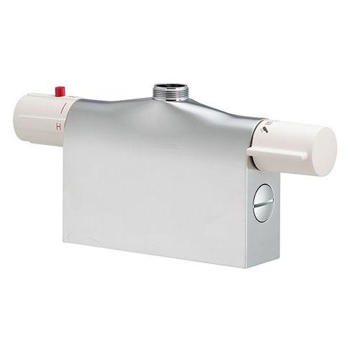 【最安値挑戦中!最大34倍】水栓金具 カクダイ 175-400K サーモスタットシャワー混合栓本体(デッキタイプ) 寒冷地用 [□]