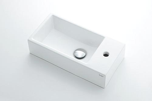 【最安値挑戦中!最大24倍】水栓金具 カクダイ 493-173 角型手洗器 [♪■]