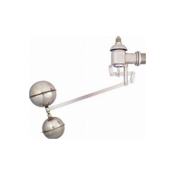 【最安値挑戦中!最大34倍】水栓金具 カクダイ 6608-40 複式ステンレスボールタップ [□]