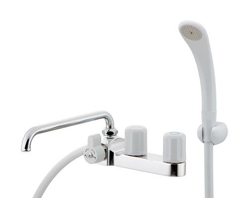 【最安値挑戦中!最大24倍】水栓金具 カクダイ 152-303 2ハンドルシャワー混合栓 [□]