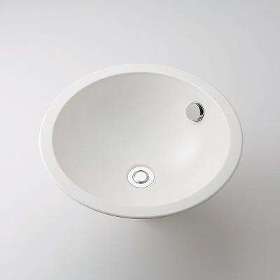 【最安値挑戦中!最大25倍】水栓金具 カクダイ 493-128-W 丸型洗面器//ホワイト オーバーカウンター [♪■]