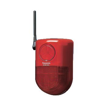 【最安値挑戦中!最大25倍】防犯機器 パナソニック ECD6130K 小電力型ワイヤレス警報ランプ付ブザー受信器 屋側用 [∽]