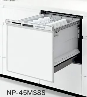 【最安値挑戦中!最大25倍】食器洗い乾燥機 パナソニック NP-45MS8W 幅45cm ミドルタイプ (ドア面材別売)[■]