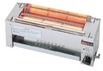 【最安値挑戦中!最大23倍】業務用ガス赤外線グリラー リンナイ RGK-61D 下火式 串焼61号 コンパクト45 赤外線バーナー(シュバンク) [≦【店販】]