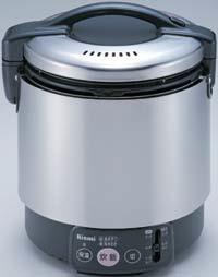 【最安値挑戦中!最大34倍】業務用ガス炊飯器 リンナイ RR-S100VL 卓上型 普及タイプ 涼厨 コンパクト45 ジャー付 内釜フッ素仕様 1.8L(1升) [≦]