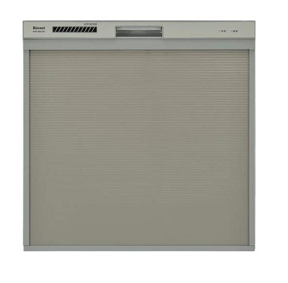 【最安値挑戦中!最大25倍】食器洗い乾燥機 リンナイ RSW-404A-SV 幅45cm スライドオープンタイプ スリムデザイン シルバー [≦]