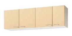 【最大44倍スーパーセール】クリナップ 【WK9Y-165 イエロー】 木キャビキッチン さくら ショート吊戸棚 可動棚板1段 間口165cm [♪▲]