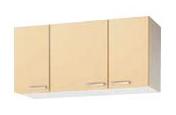 【最大44倍スーパーセール】クリナップ 【WK9W-105 ホワイト】 木キャビキッチン さくら ショート吊戸棚 可動棚板1段 間口105cm [♪▲]