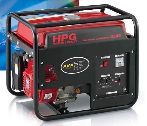 【最安値挑戦中!最大23倍】ワキタ ガソリン発電機 HPG2500-5 ゼネレーター AVR 50Hz 2000W メイホーシリーズ [♪■]