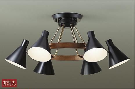 【最安値挑戦中!最大24倍】大光電機(DAIKO) DCH-40484Y シャンデリア ランプ付 非調光 電球色 白熱灯60W×6灯相当(E17) ブラック ~4.5畳 [∽]