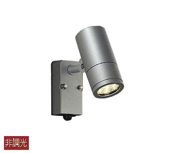 【最安値挑戦中!最大34倍】照明器具 大光電機(DAIKO) DOL-4018YS アウトドアスポットライト DECOLED'S 防雨形 人感センサー ON/OFFタイプ1 シルバー LED内蔵 電球色 [∽]