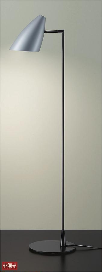 【最安値挑戦中!最大24倍】大光電機(DAIKO) DST-40538Y スタンド フロアスタンド ランプ付 非調光 電球色 シルバー 中間スイッチ コード3m 差込プラグ [∽]