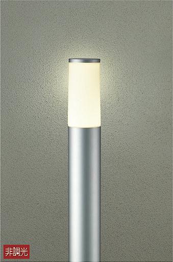 【最安値挑戦中!最大34倍】大光電機(DAIKO) DWP-39635Y ポールライト ランプ付 非調光 電球色 シルバー 高910 防雨形 LED電球4.7W [∽]