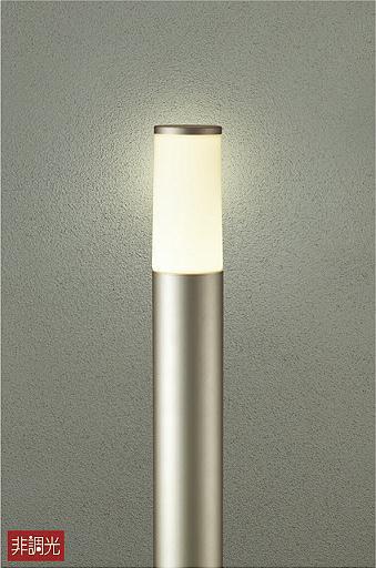 【最安値挑戦中!最大34倍】大光電機(DAIKO) DWP-39636Y ポールライト ランプ付 非調光 電球色 シルバー 高910 防雨形 LED電球4.7W [∽]