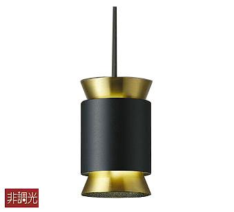 【最安値挑戦中!最大25倍】大光電機(DAIKO) DPN-39896Y ペンダントライト 洋風小型 ランプ付 電球色 非調光 ブラック 金色 LED電球4.7W