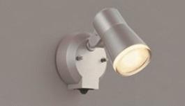 【最安値挑戦中!最大25倍】因幡電機産業 JBK 640 555 アウトドアスポット LED付 タイマー付ON-OFFタイプ 電球色拡散 人感センサ付防雨型 白熱球60Wシルバー
