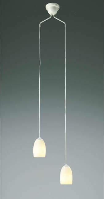 【最安値挑戦中!最大34倍】コイズミ照明 AP40021L 吹き抜けシャンデリア 白熱球60W×2灯相当 LED付 電球色 オフホワイト [(^^)]