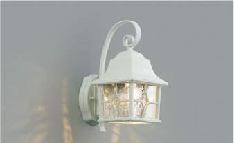 【最安値挑戦中!最大34倍】コイズミ照明 AU42407L ポーチライト 壁 ブラケットライト 調光タイプ 白熱球60W相当 LED一体型 電球色 防雨型 ホワイト [(^^)]