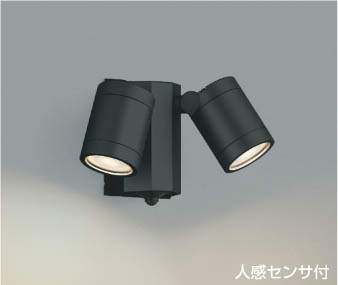 【最安値挑戦中!最大34倍】コイズミ照明 AU43321L アウトドアスポットライト 人感センサ タイマー付ON-OFFタイプ 白熱球60W×2灯相当 LED一体型 電球色 [(^^)]