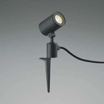 【最安値挑戦中!最大34倍】コイズミ照明 AU43681L アウトドアスポットライト スパイク式 JDR50W相当 中角 調光タイプ LED一体型 電球色 防雨型 ブラック [(^^)]