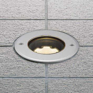 【最安値挑戦中!最大25倍】コイズミ照明 AU49049L バリードライト LED地中埋込器具 LED一体型 電球色 広角 埋込φ120 白熱球60W相当 表ネジ式 シルバー