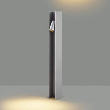 【最安値挑戦中!最大24倍】コイズミ照明 AU49051L LEDガーデンライト H型ポール灯 LED一体型 電球色 防雨型 白熱球40W×2灯相当 シルバー [(^^)]