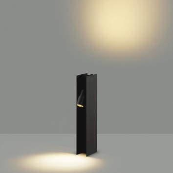 【最大44倍お買い物マラソン】コイズミ照明 AU49052L LEDガーデンライト H型ポール灯 LED一体型 電球色 防雨型 白熱球40W×2灯相当 ブラック