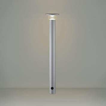 【最安値挑戦中!最大25倍】コイズミ照明 AU49065L LEDガーデンライト ポールライト LED付 電球色 防雨型 表ネジ式 シルバー