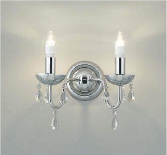 【最安値挑戦中!最大25倍】コイズミ照明 AB42099L 意匠ブラケット 白熱球40W 2灯相当 LED付 電球色 飾りガラス シルバー
