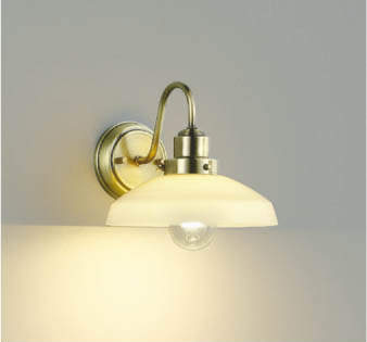 【最安値挑戦中!最大25倍】コイズミ照明 AB43547L 意匠ブラケット 白熱球60W相当 LED付 電球色 ガラス オールドブラスメッキ