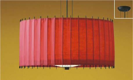 【最安値挑戦中!最大25倍】コイズミ照明 AP36499L 和風照明 ペンダントライト 古都里ことり LED付 白熱球60W相当 電球色 フランジ 竹・和紙朱色