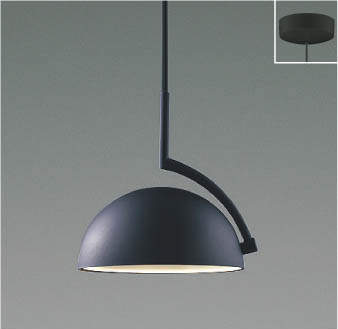【最安値挑戦中!最大25倍】コイズミ照明 AP46945L ペンダント LED一体型 電球色 フランジ 傾斜天井対応 マットブラック塗装