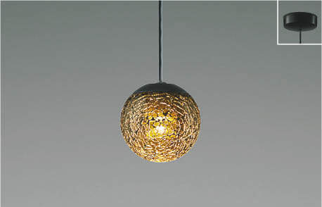 【最安値挑戦中!最大25倍】コイズミ照明 AP47616L ペンダント LED一体型 調光 電球色 フランジ マットブラック塗装