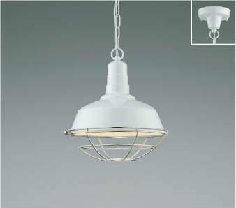 【最安値挑戦中!最大25倍】コイズミ照明 AP47854L ペンダント LEDランプ交換可能型 電球色 フランジ 白色塗装