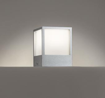 【最安値挑戦中!最大25倍】オーデリック OG254620 エクステリアポーチライト 門柱灯 LED一体型 電球色 白熱灯60W相当 マットシルバー
