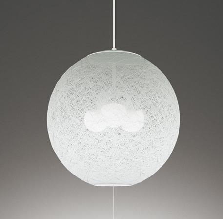 【最安値挑戦中!最大25倍】オーデリック OP035213ND 和風照明 LED電球ボール球形12.2W×3 昼白色 ~8畳 非調光 引掛シーリング 樹脂糸・木綿糸 ホワイト